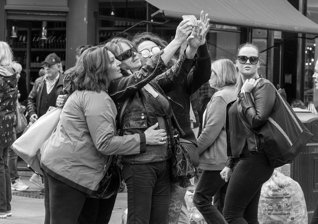 Taking a Selfie, Portobello Road, London