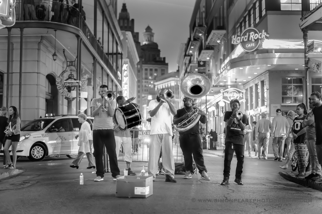 Fine Art Photograph and Print of a New Orleans Dixieland Jazz Band