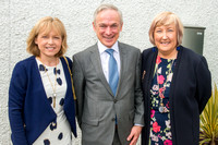 Minister Richard Bruton, Principal Eileen O'Connor and Anne Kear