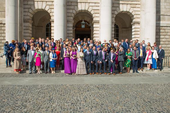 Róisín and Christoph's Wedding Trinity College Church Dublin City. Reception, Fitzpatrick Castle, Killiney, Co. Dublin.