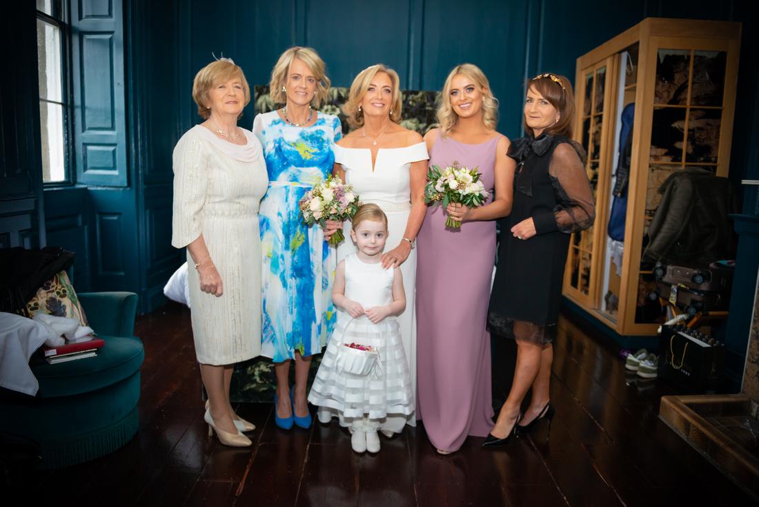 Classic Family Wedding Portraits. Bellinter House, Meath.