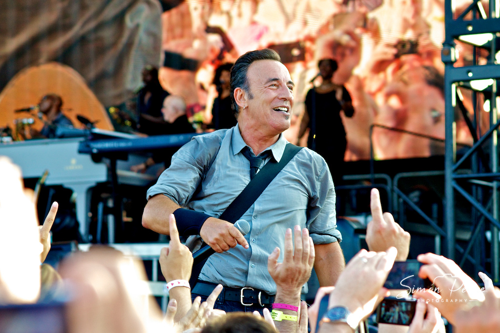 Bruce Springsteen. Event Photographer Simon Peare Looking for an Event Photographer. To get in Touch email:info@simonpearephotography.com or ph/text/WhatsApp +353 86 8137668 Competitive Rates - No Obligation Quotation. www.simonpearephotography.com