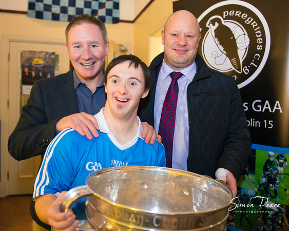 Jim Gavin Dublin GAA Manager with a lucky fan in St Peregrines, GAA. Looking for an Event Photographer. To get in Touch email:info@simonpearephotography.com or ph/text/WhatsApp +353 86 8137668 Competitive Rates - No Obligation Quotation.  Event Photographer Simon Peare
