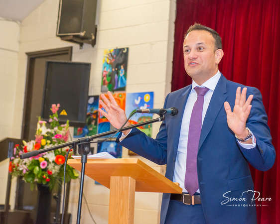 Event Photo of Taoiseach Leo Varadkar. Event Photographer Simon Peare. If you are looking to hire a photographer for your event, conference or party please get in touch