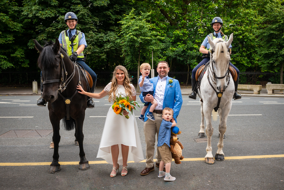 Civil Ceremony and Registry Office Wedding Photography. Wedding Ceremony Photographs and Bridal Party Portraits Afterwards