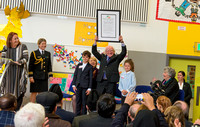 Photograph of President Michael D Higgins at Esker Educate Together National School 10 Year Anniversary