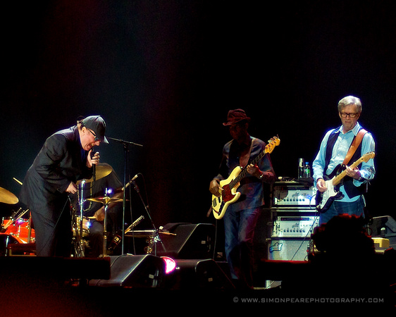 Fine Art Photograph and Print of Eric Clapton & Van Morrison, Belfast 2013 For Sale by Dublin Photographer Simon Peare